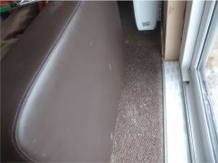 Plaster on carpet & chair
